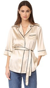 Whistles Slyvia Pajama Silk Shirt