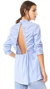 Dion Lee Gathered Button Down Shirt