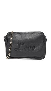 Edie Parker Amy Love Leather Cross Body Bag