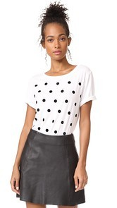 South Parade Velvet Polka Dots Tee