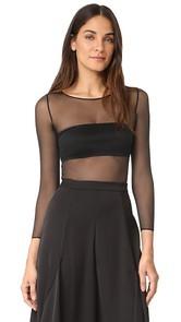 SPANX Sheer Long Sleeve Bodysuit