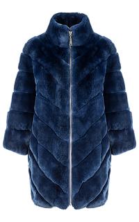 Шуба из меха кролика на молнии Virtuale Fur Collection