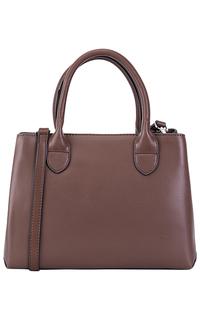 Коричневая кожаная сумка La Reine Blanche
