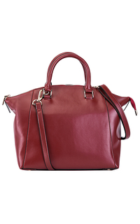 Бордовая кожаная сумка La Reine Blanche
