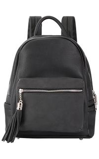Черный рюкзак из экокожи La Reine Blanche