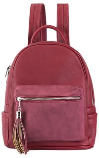 Бордовый рюкзак из экокожи La Reine Blanche