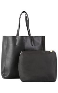 Кожаная сумка с косметичкой La Reine Blanche