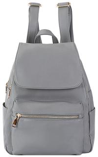 Серый рюкзак из экокожи La Reine Blanche