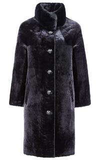 Пальто из овчины с отделкой мехом норки Снежная Королева