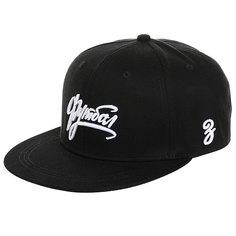 Бейсболка с прямым козырьком Запорожец Footbol Snapback Black