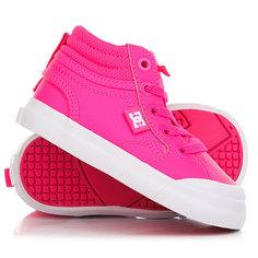 Кеды кроссовки высокие детские DC Evan Hi Pink