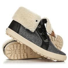 Кеды кроссовки утепленные женские Roxy Albany Boot Charcoal
