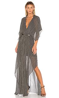 Макси платье с глубоким v-образным вырезом - ANIMALE