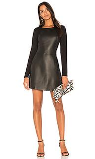 Кожаное мини платье - Michael Stars