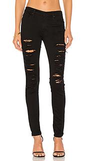 Равные узкие джинсы средней посадки jude - Black Orchid