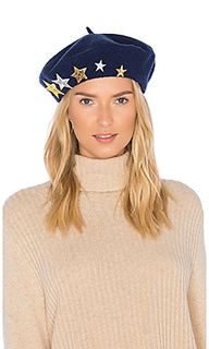 Wool beret with star patches - Hat Attack