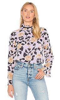Блуза из жоржета carlton - Ganni