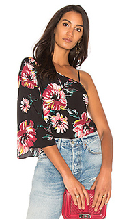 One shoulder flounce sleeve blouse - 1. STATE