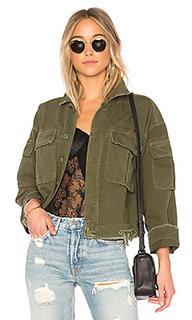 Свободная укороченная куртка в стиле милитари dorian - GRLFRND