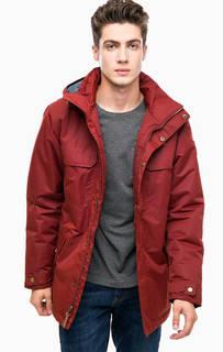Бордовая демисезонная куртка с капюшоном Columbia