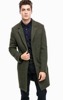 Пальто цвета хаки без подкладки Drykorn