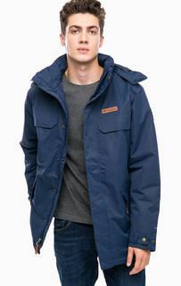Синяя демисезонная куртка с капюшоном Columbia