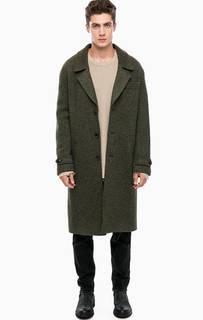 Пальто цвета хаки с подкладкой Drykorn