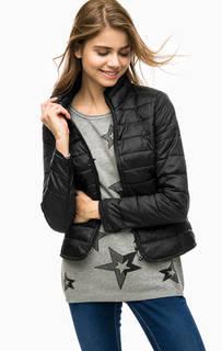 Черная стеганая куртка с карманами Only
