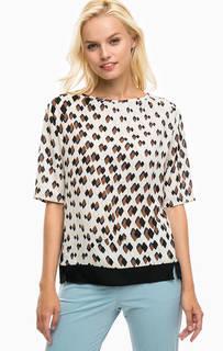Разноцветная блуза с короткими рукавами United Colors of Benetton