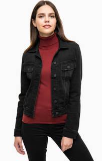 Черная джинсовая куртка с двумя карманами Lee