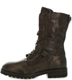 Высокие коричневые ботинки из натуральной кожи Mjus