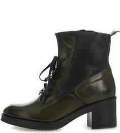 Двухцветные ботинки на молнии и шнуровке Mjus