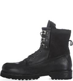 Кожаные ботинки с меховой подкладкой A.S.98
