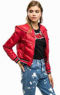 Красная куртка бомбер Pinko