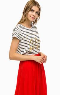Хлопковая футболка в полоску Vero Moda