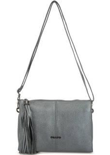 Маленькая серебристая сумка через плечо Fiato