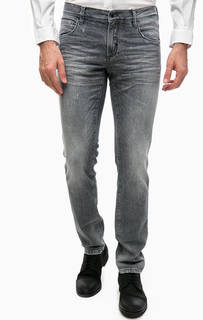 Серые джинсы скинни с потертостями Antony Morato