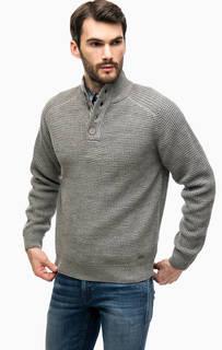Серый свитер с пуговицами на воротнике Blue Seven
