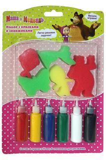 Набор с красками и спонжиками Маша и Медведь