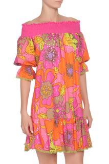 Свободное платье из перфорированной ткани 22 MAGGIO