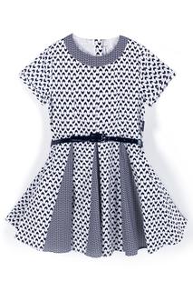 Расклешенное платье к низу с поясом Coccodrillo