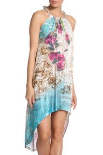 Платье свободного силуэта с овальным вырезом на подоле Elisa Cavaletti