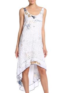 Платье свободного силуэта кружевное с пайетками Elisa Cavaletti