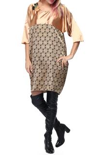 Шелковое объёмное платье с принтом Kata Binska