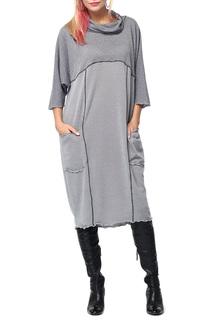 Свободное платье-водолазка с накладными карманами Kata Binska