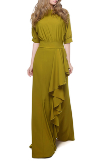 Вечернее платье с запахом и с воланами MARICHUELL