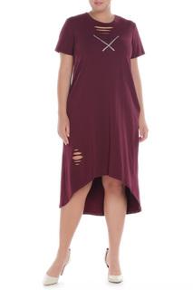 Платье свободного покроя с ассиметричным низом PREMIUM
