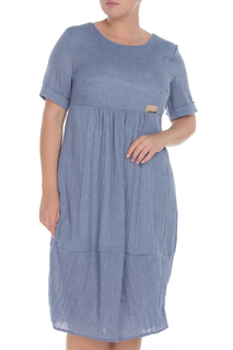 Льняное платье с коротким рукавом ven stella