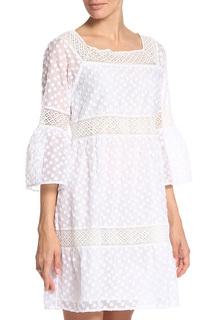 Платье приталенное с кружевом Anna Rachele
