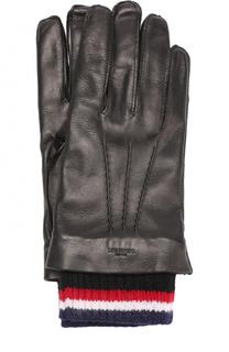 Кожаные перчатки с кашемировой подкладкой Thom Browne